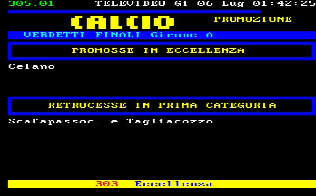 Abruzzo Calcio Promozione Girone A Risultati