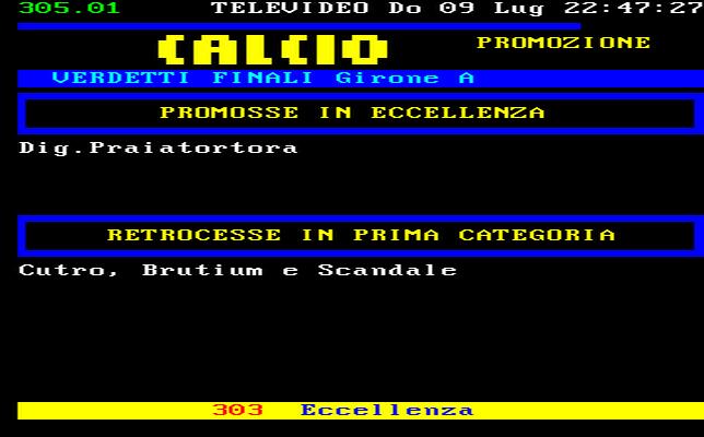 Campionato di Calcio Promozione Girone A  Calabria (Dilettanti) Calabrese 2010-2011-Risultati-Classifica