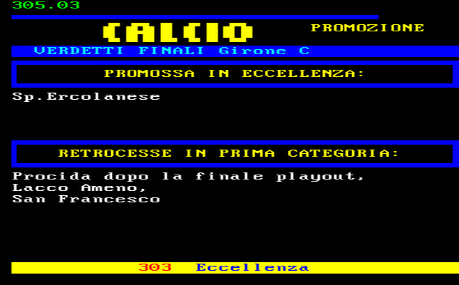 Campania Calcio Promozione Girone C Risultati