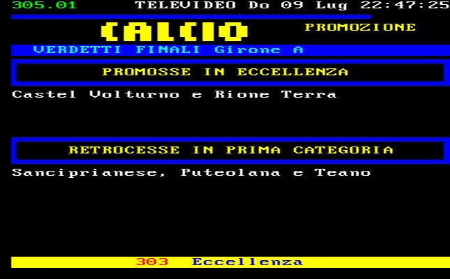 Campania Calcio Promozione Girone A Risultati