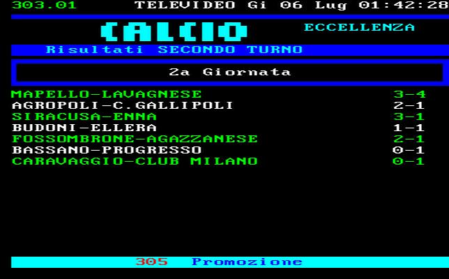 CLASSIFICA CAMPIONATO CALCIO ECCELLENZA MOLISE