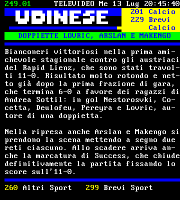 News Udinese