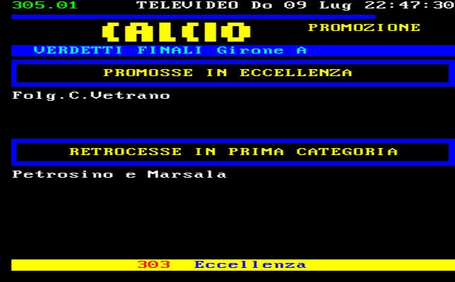 Sicilia Calcio Promozione Girone A Risultati