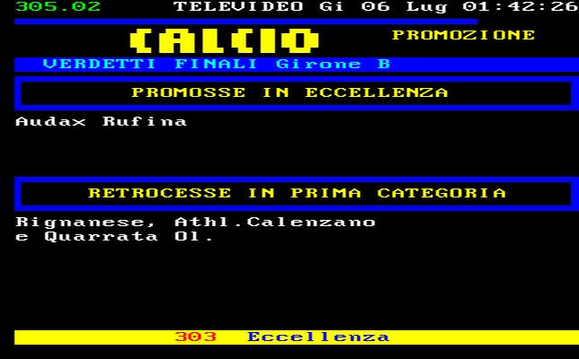 Toscana Calcio Promozione Girone B Risultati