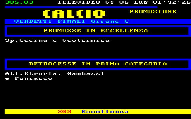 Toscana Calcio Promozione Girone C Risultati