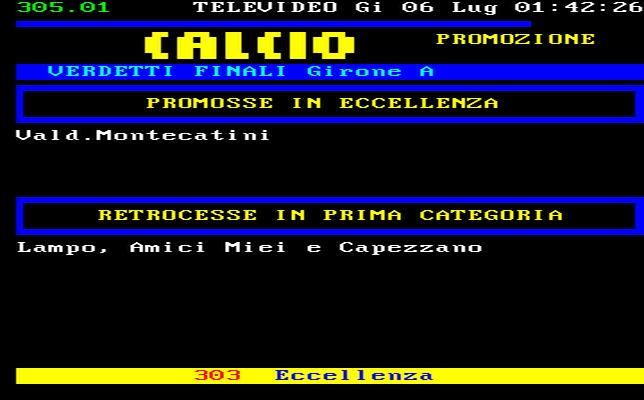 Toscana Calcio Promozione Girone A Risultati